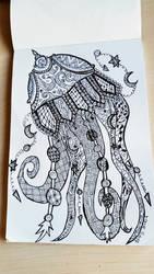 zendoodle jelyfish by Miss-Chili