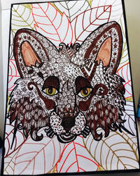 zendoodle fox by Miss-Chili