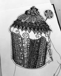 Zendoodle cupcake by Miss-Chili