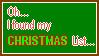 Christmas List Stamp by AishaLeHerisson
