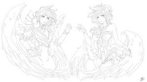 Twin Sisters - Lineart