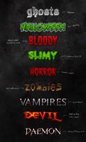 Horror Text Styles