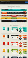 Retro Web Elements by erigongraphics