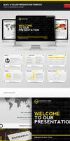Black And Yellow PPTX Template