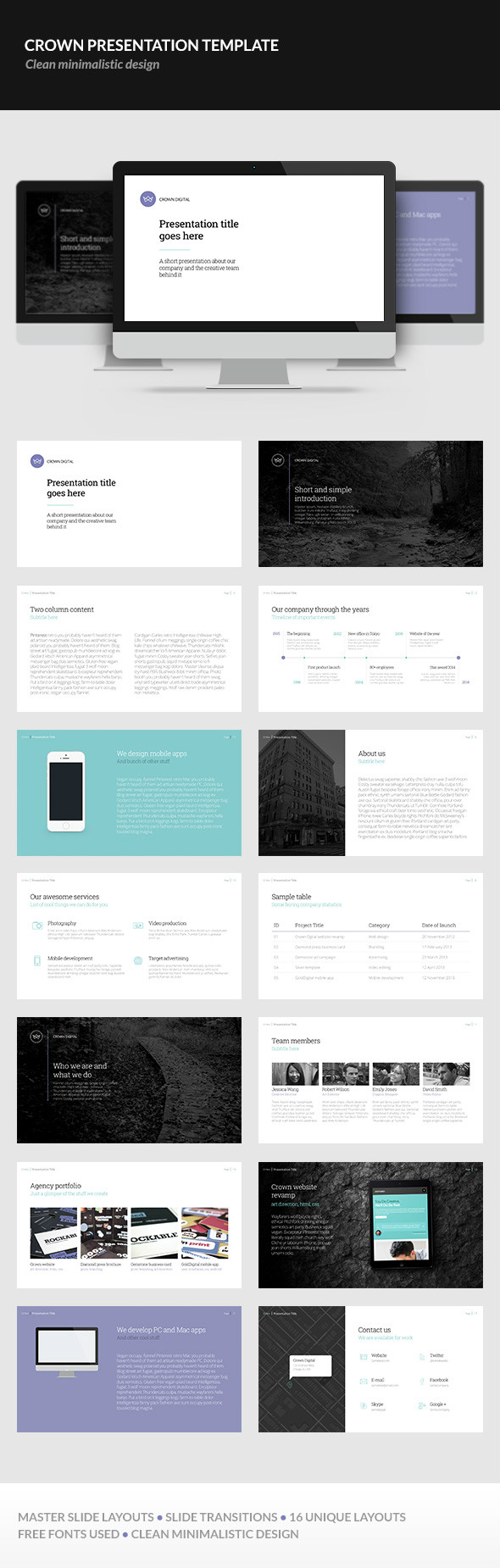 Crown Presentation Template by erigongraphics