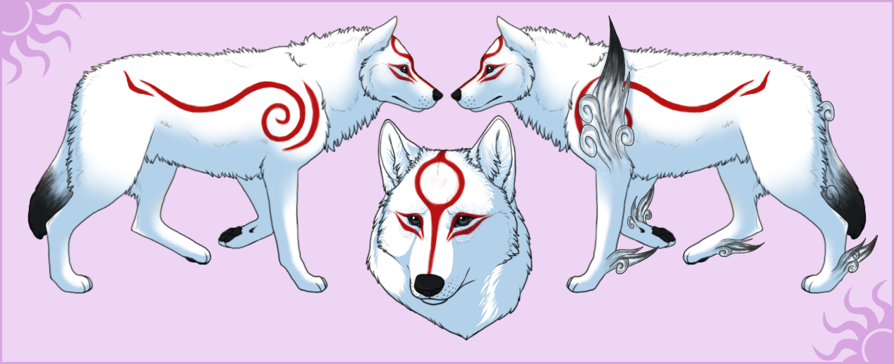 Okami Amaterasu Character Sheet by Okamay