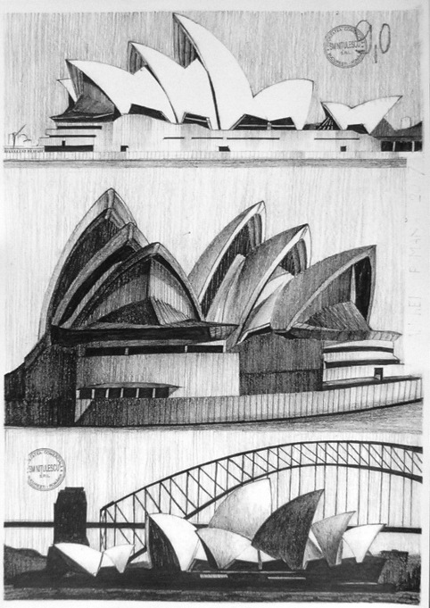 Architectural drawings by thedreameater on deviantart