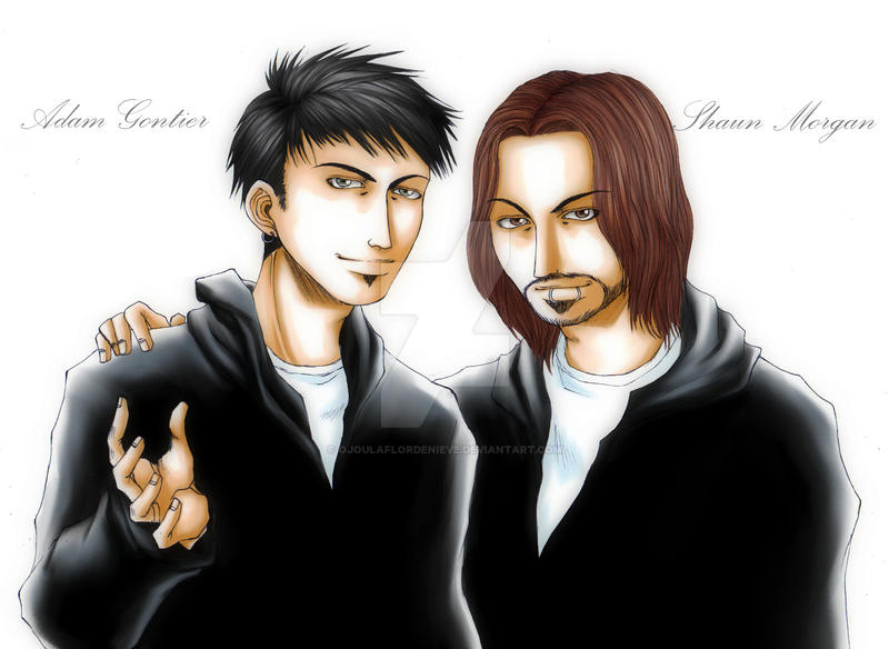 Adam gontier and shaun morgan by ojoulaflordenieve on - Adam gontier wallpaper ...