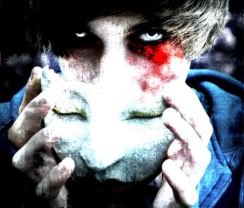 Image result for evil behind mask