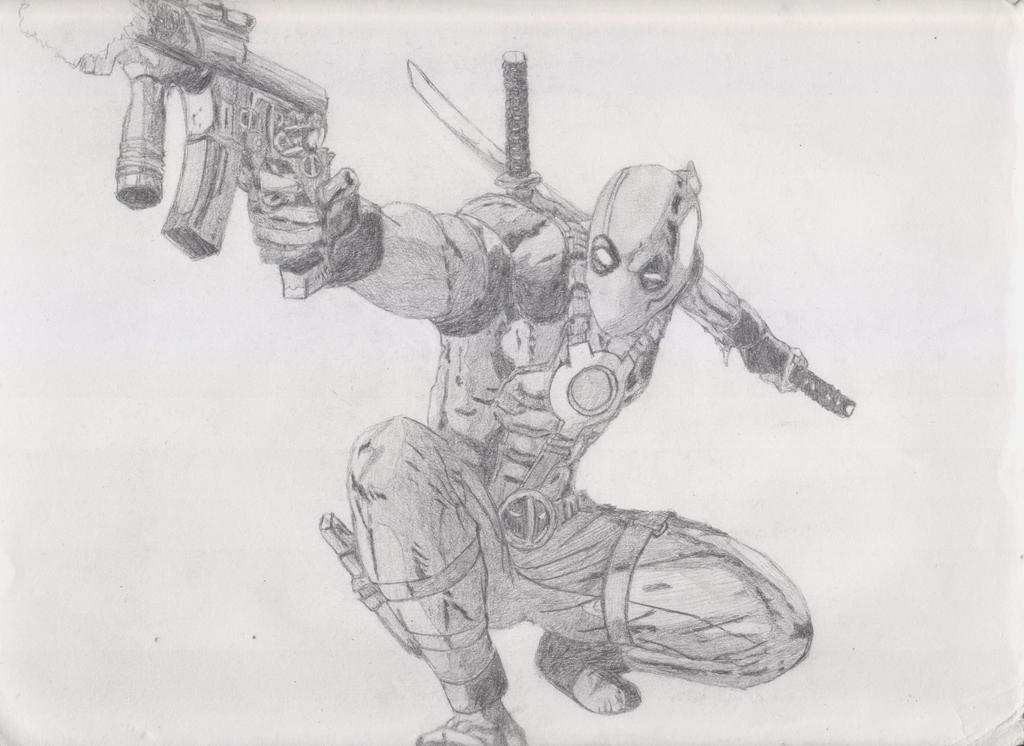 Deadpool deviantart black and white