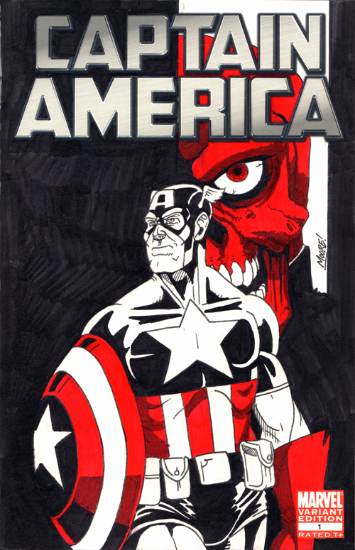 Captain America Sketch Cover by SeanRM