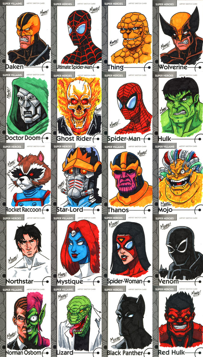Fleer Retro Marvel - Part 1 by SeanRM on DeviantArt