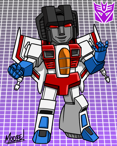 Heads Up 134 - SD Starscream by SeanRM