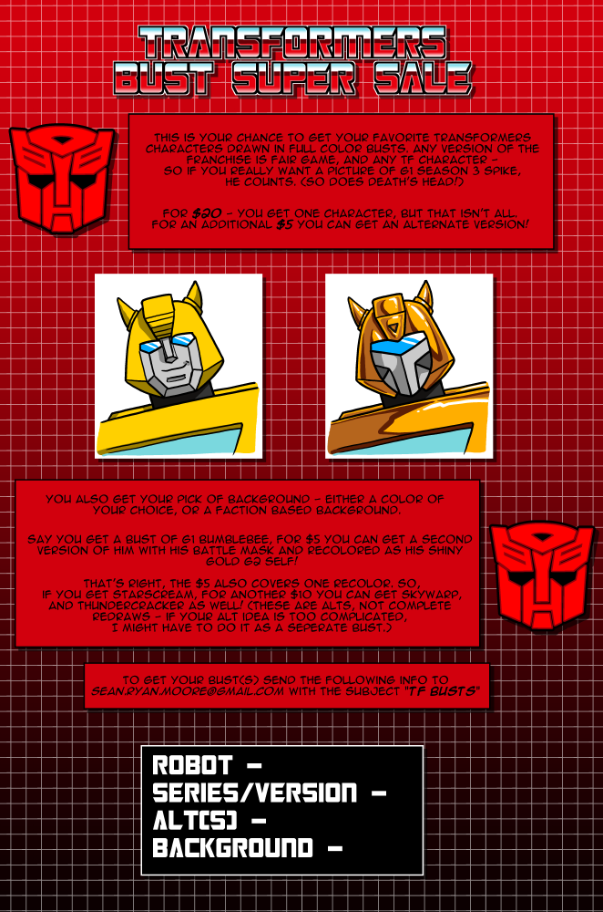 Transformers Bust Super Sale by SeanRM