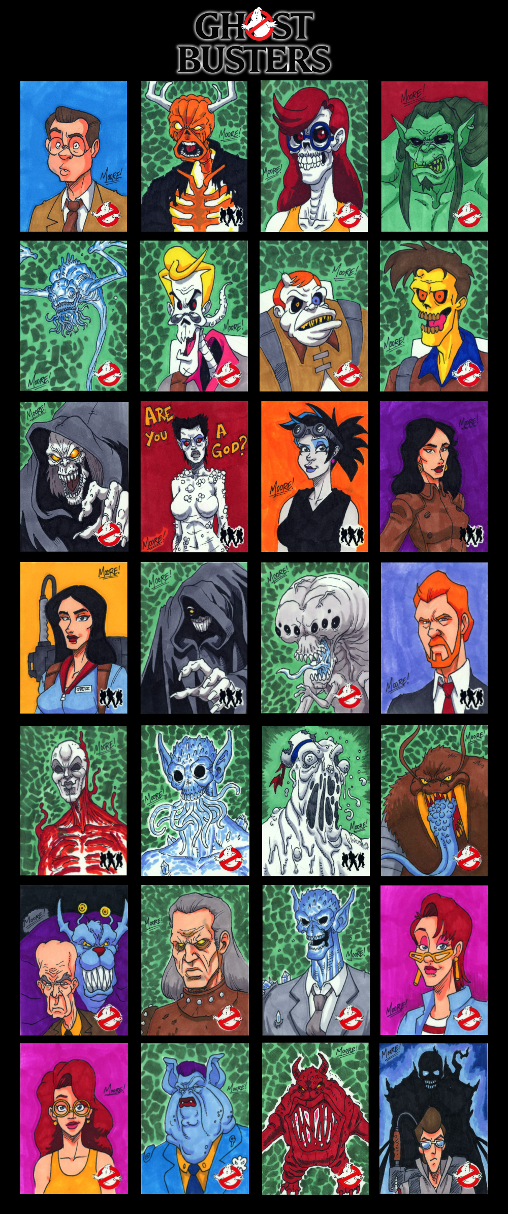 GhostBusters Sketch Cards - 02 by SeanRM