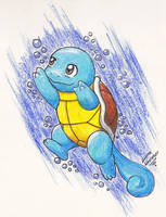 Diving Squirtle by AustriaUsagi