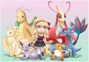 My Pokemon Team by AustriaUsagi