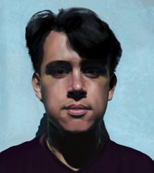 Portrait of a friend by riotweekend