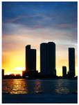 Night falling on Miami Beach