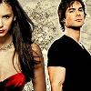 Vampire Diaries-Elena , Damon by Saar-09