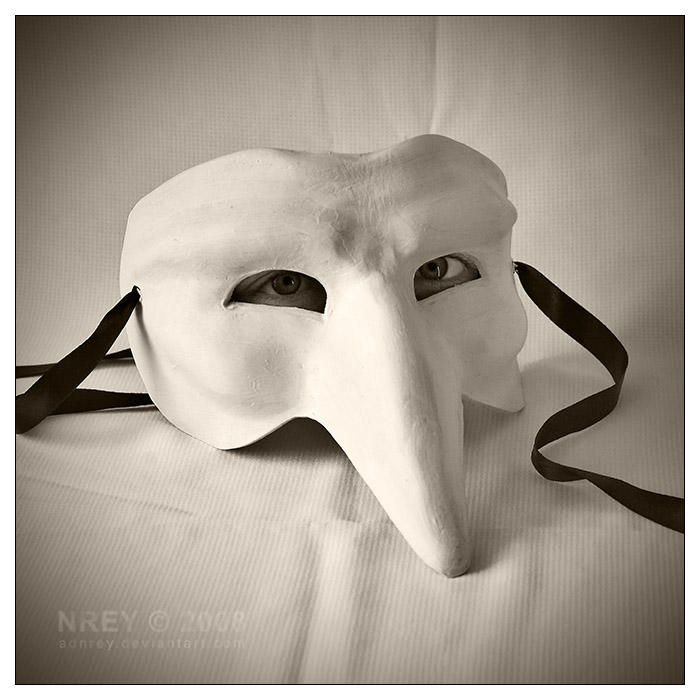 Live mask white by adnrey
