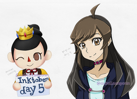 Inktober - Animal Crossing + Yu-Gi-Oh! - Days 5-11