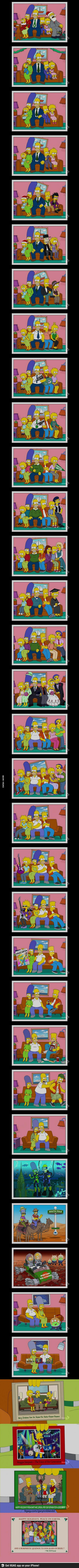 The Simpsons- A Christmas Family Photo? by pjcb12