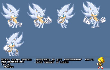Hyper Sonic Pixel Art by PixelPower23