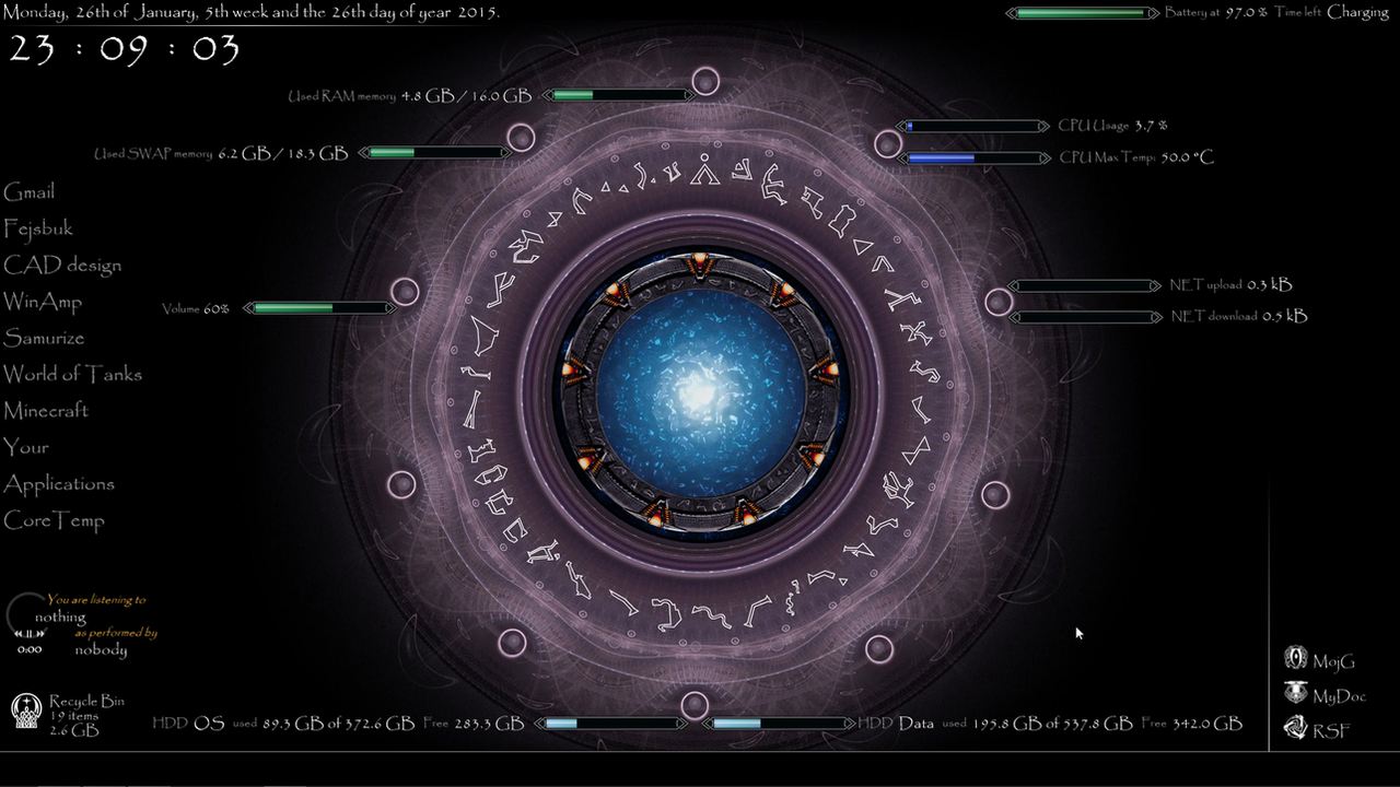 Rainmeter by deivantan on deviantart for Deviantart rainmeter