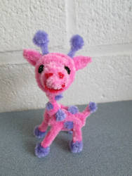 Pipe Cleaner Pink Giraffe