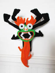 Pipe Cleaner Aku Bust by DarkSaberCat