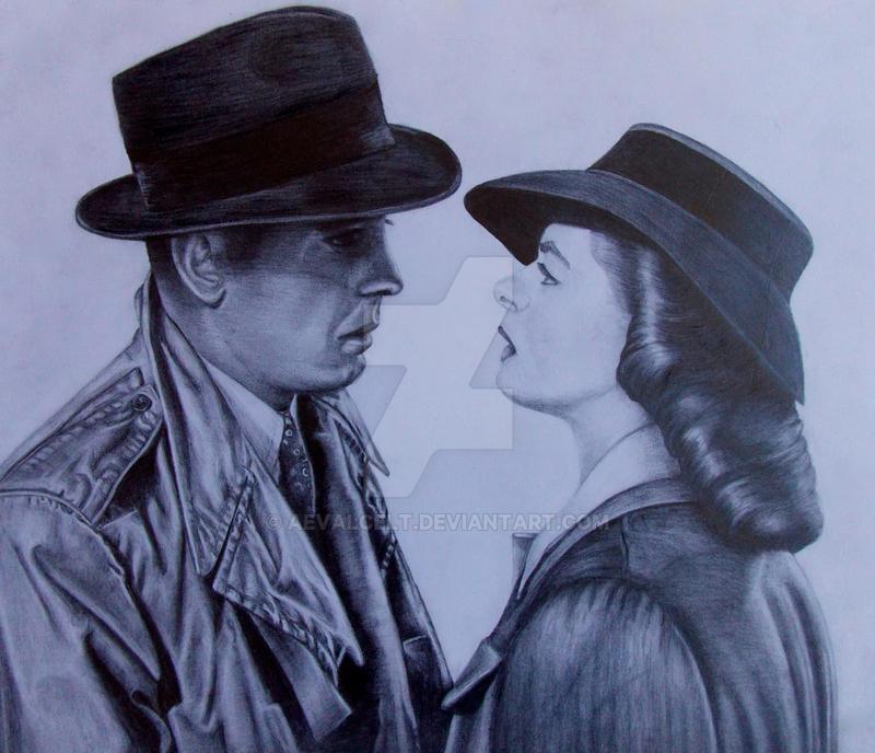 Casablanca: Humphrey Bogart and Ingrid Bergman by AevalCelt