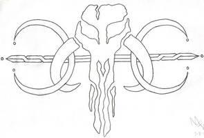 Mandalorian Mythosaur Tattoo by FettFan79