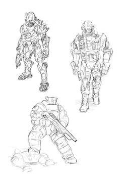 soldiers concept