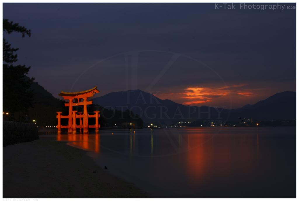 Sunset O-Torii by K-Tak
