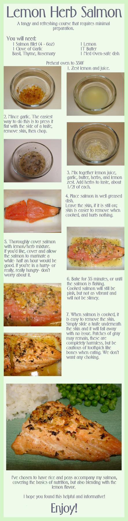 Lemon Herb Salmon by ElwynAvalon