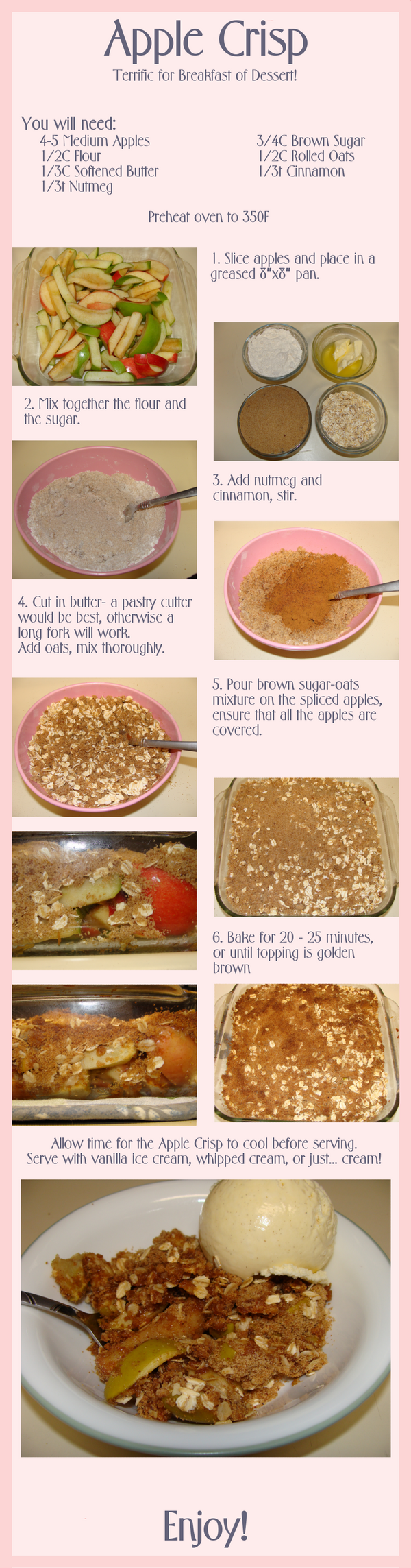 Apple Crisp by ElwynAvalon