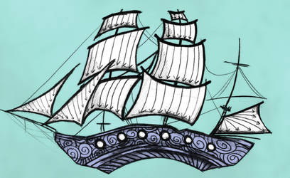 Oh, Ship. We're Going Down (Tattoo Design)