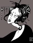 Geisha by SilentSheWhispers
