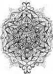 Merkaba, Metatron's Cube by Moonsquirrel