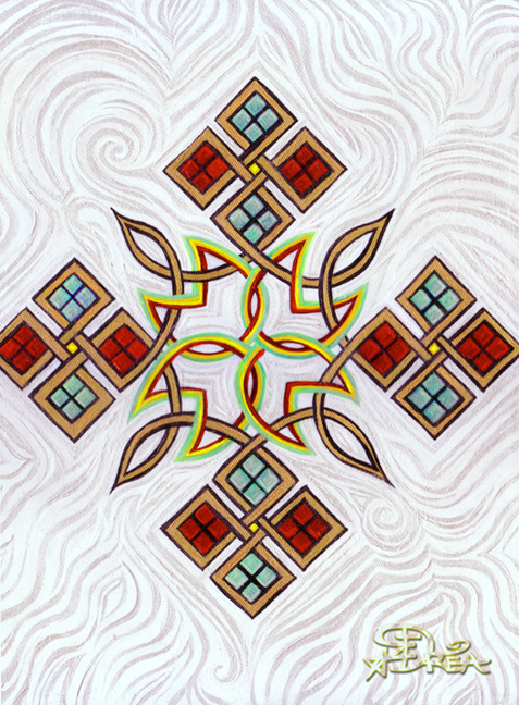 Ethiopian knot design by moonsquirrel on deviantart for Ethiopian decorating style