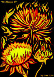 Fire Flowers #1 by Moonsquirrel