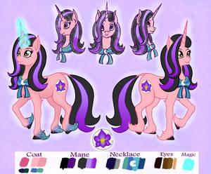 Ponysona Moonlight Orchid ref sheet