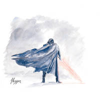 Kylo Ren - Snow by TwinDrops