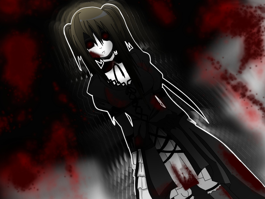 the horror anime girl shuzaku by xdeidax on deviantart