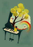 pianobird by birnimal