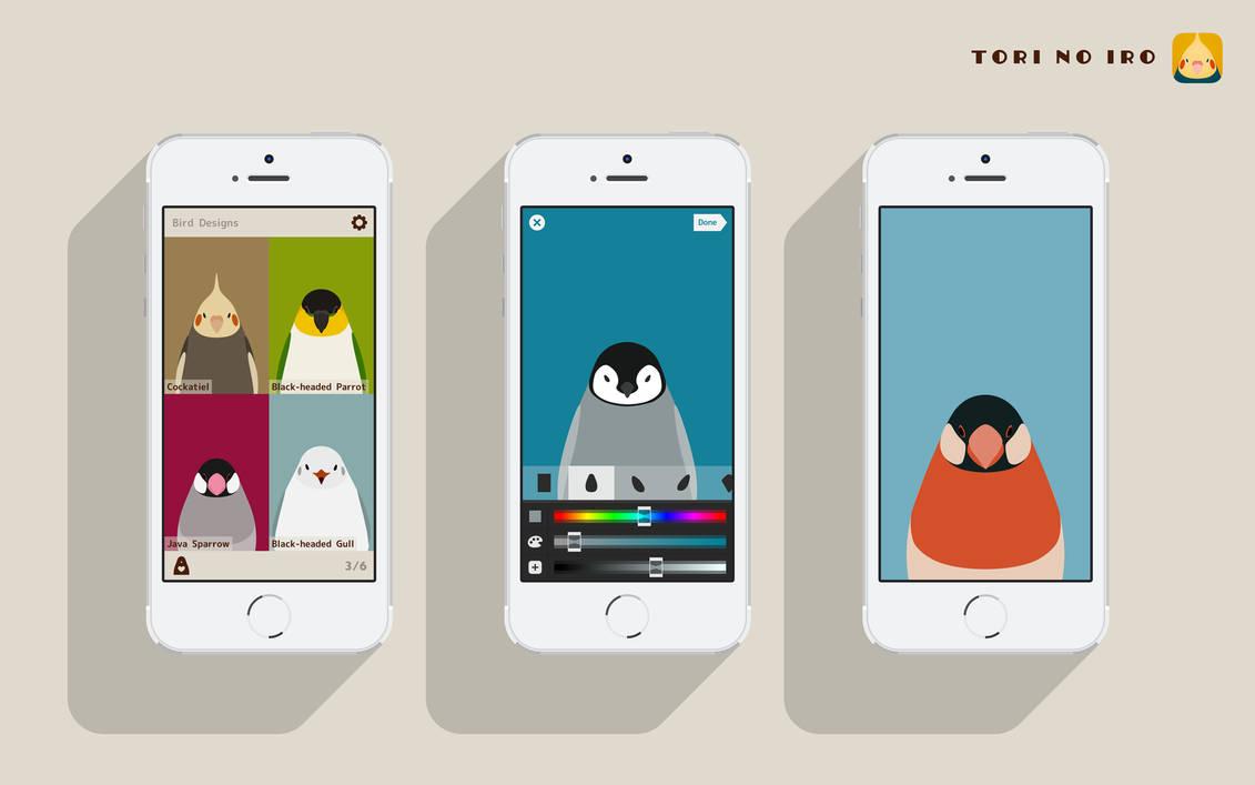 Bird Wallpaper App for iPhone - tori no iro