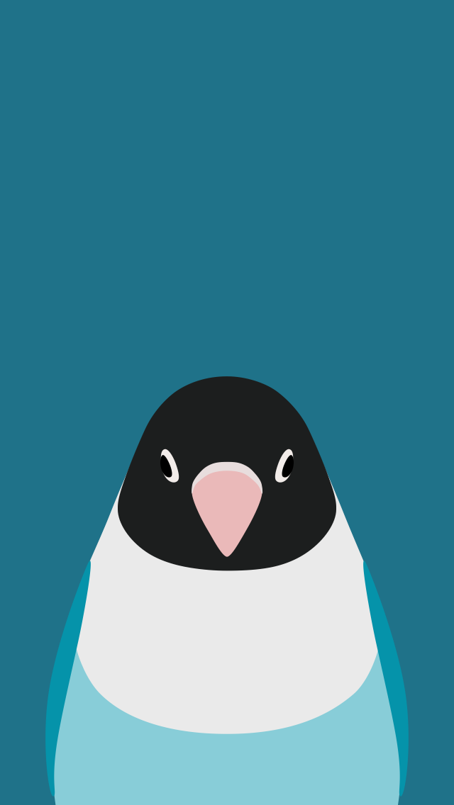 Lovebird - bird wallpaper for iPhone by birnimal