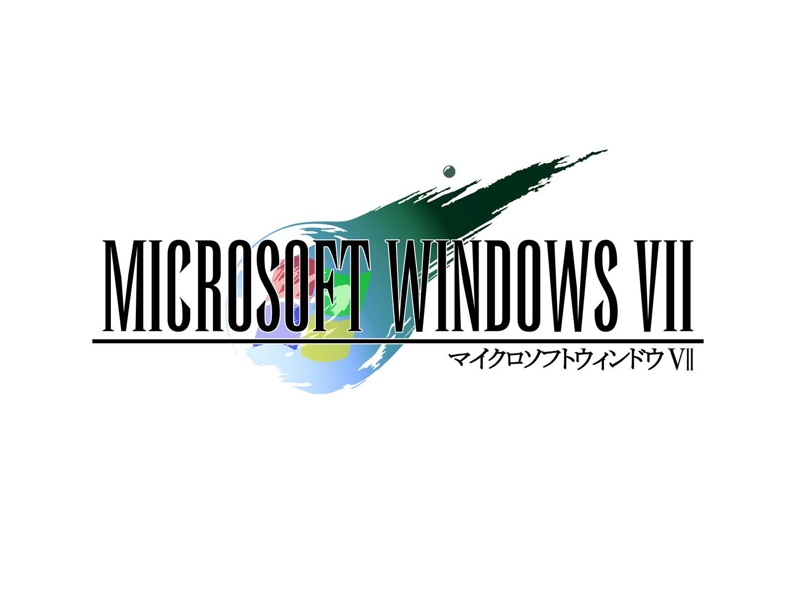 final fantasy vii style windows 7 logo by critman on