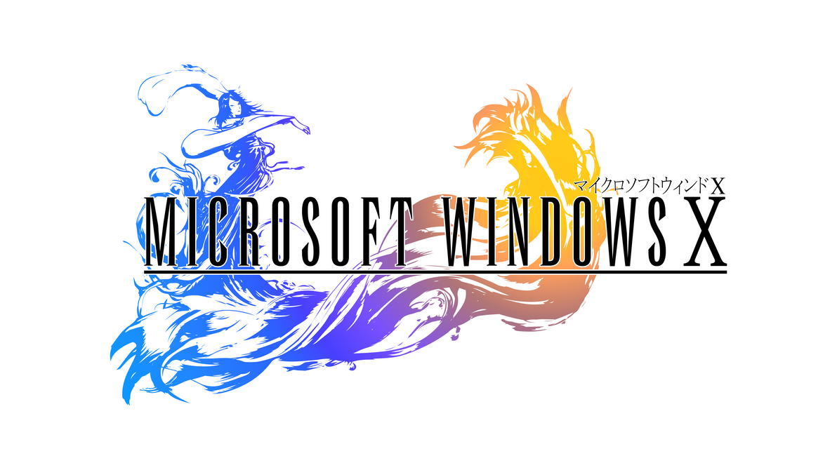 Final Fantasy X Style Windows 10 Logo By Critman